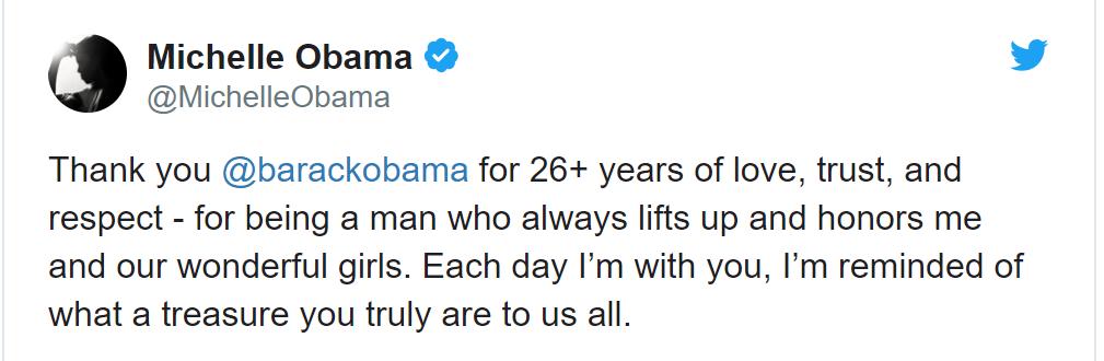 A troca de mensagens do Casal Obama Michelle-ll