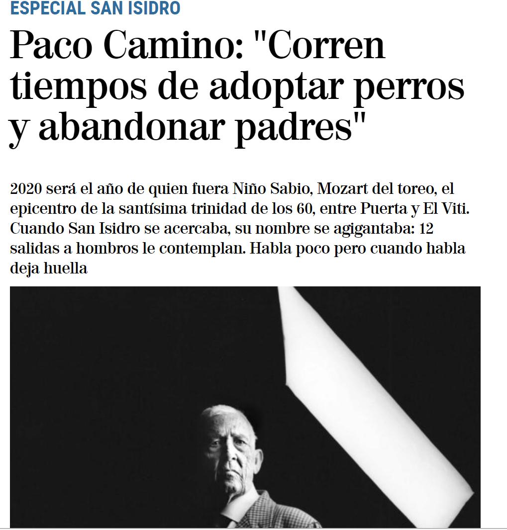 """""""Atualmente adotam-se cães e abandonam-se os pais"""", Paco Camino Sem-Título"""