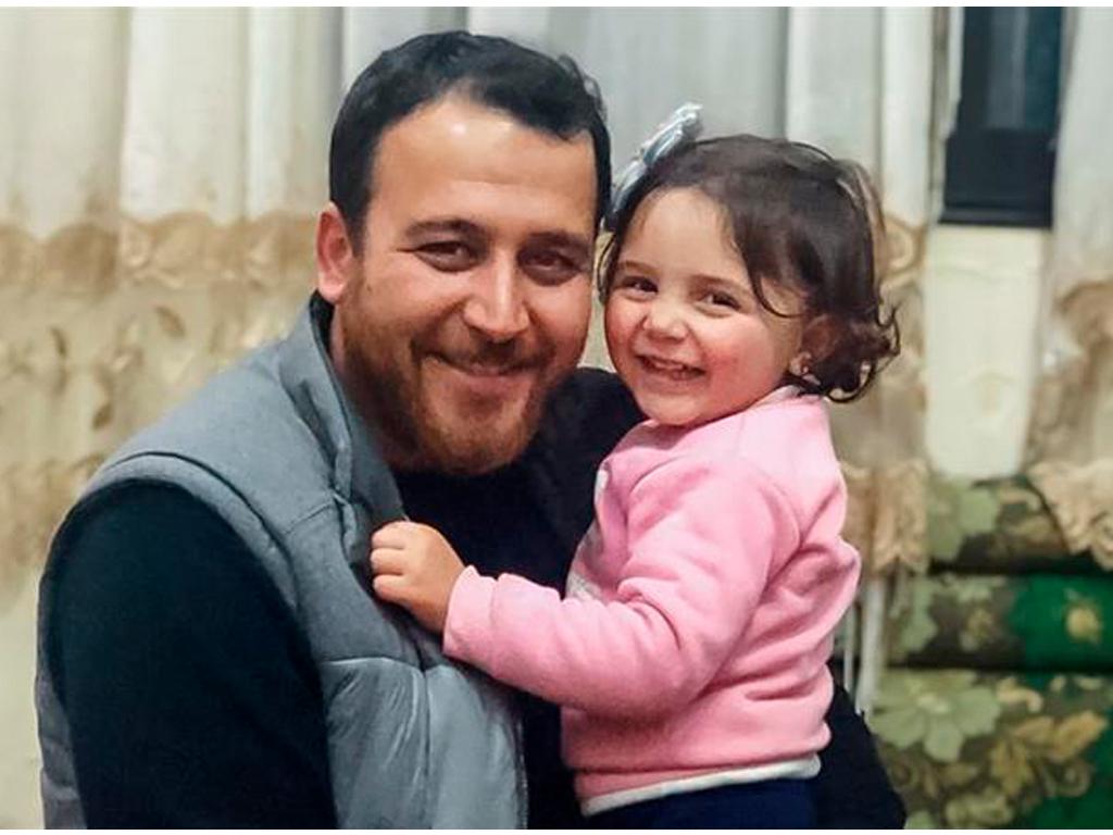 Abdullah Mohamma e a sua filha Salwa
