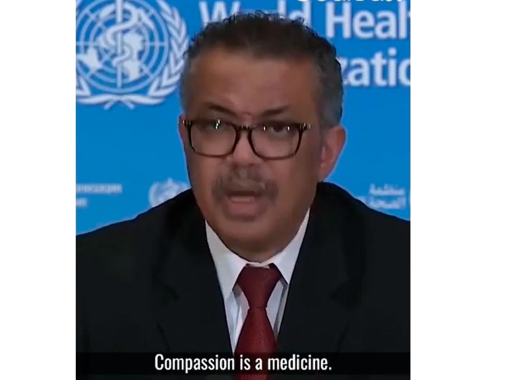 A compaixão é uma medicina, Diretor Geral da OMS