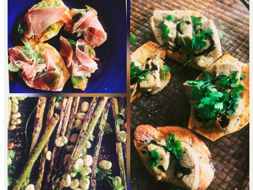 Almoço - Bruschettas e Espargos