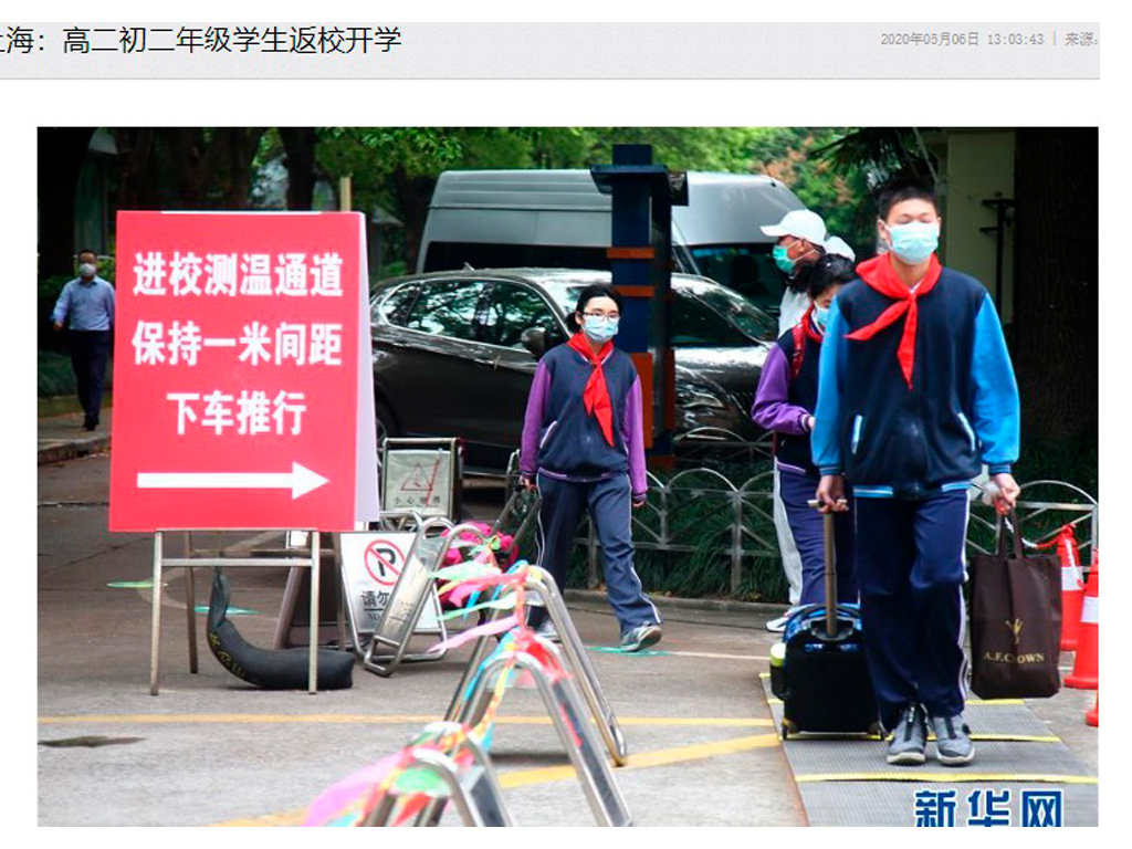Wuhan - regresso à escola
