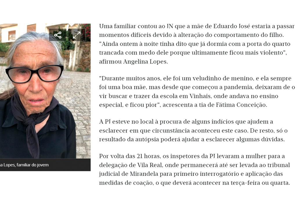 Jn - Mãe sozinha com filho com autismo em Mirandela