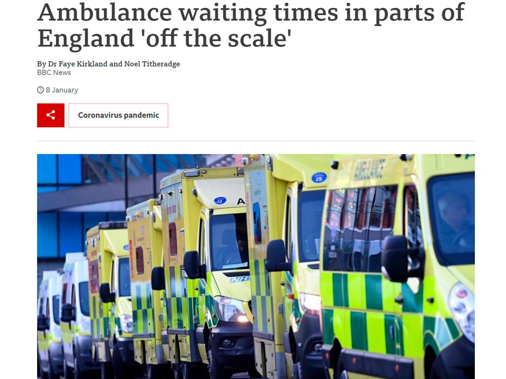 Ambulâncias - COVID-19 no Reino Unido